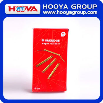 wholesale office and school 8cm high quality brass metal paper file fastener