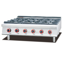 Commercial LPG Natural Gas 6 Cooking Stove Burner for Hotel Kitchen or Restaurant