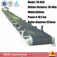 High quality building using materials conveying plant large inclined angle belt conveyor