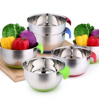 Silicone And Stainless Steel Mixing Bowls