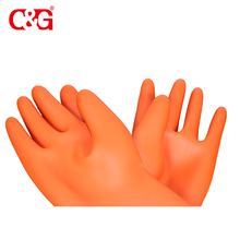 Top quality high voltage rated electrical insulating rubber gloves