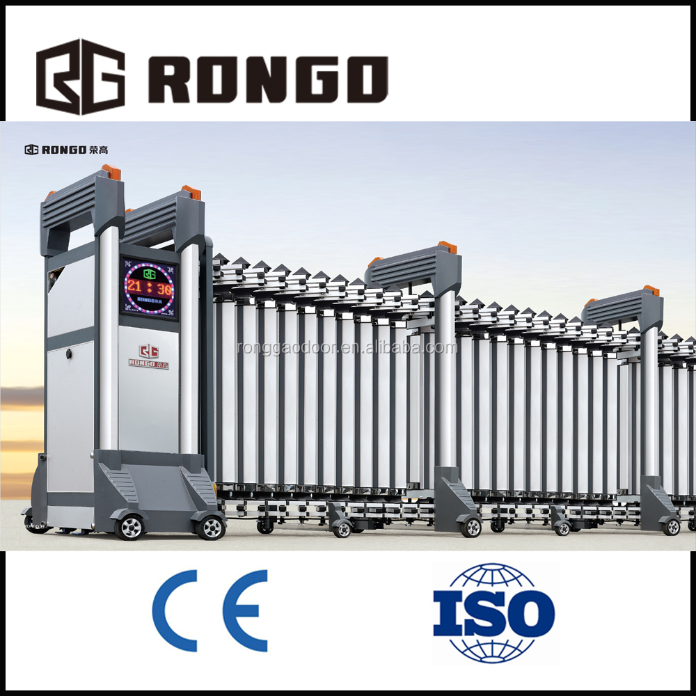 Intelligent electric iron or stainless steel materials retractable gate design