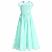 Elegant Kids Clothes baby girl party long frocks full length indian girl party wear dress Lace005