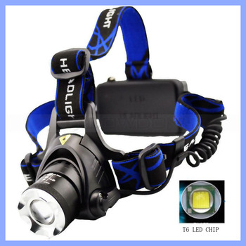 Waterproof Cycling Flashlight Durable Outdoor Sports Head Torch Hiking XML T6 LED Zoomable Headlamp