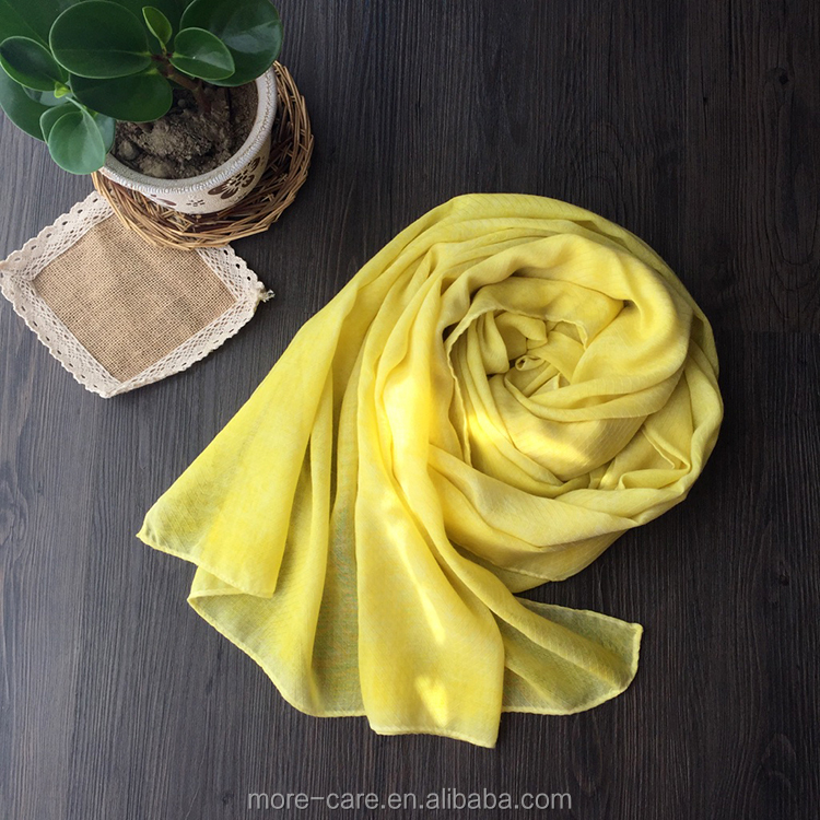 wholesale women shawl scarf long plain color cotton scarf