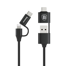Baseus Fast Charger Cable 5 in 1 Multifunctional Cable Type C USB Mobile Phone Cable with Type-c OTG
