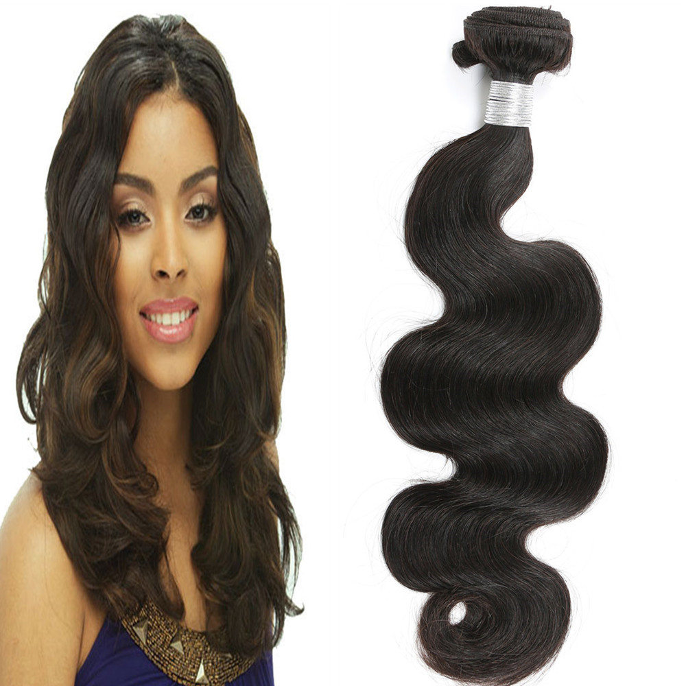 Leyuan Sew In Remy Hair Extensions Black Star Human Hair Body Weave