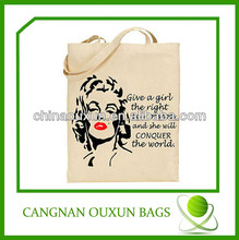 Various styles printable reusable oversized canvas shopping bag