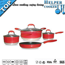 Hot well products red press aluminum casserole with cut edge