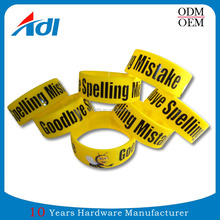 Cheap custom sport debossed wristband silicone bracelets no minimum