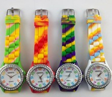 silicone rainbow geneva watches Fashion his and hers