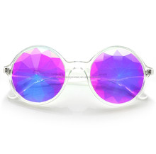 Sungeras 2018 new year fashion clumaster happy fda funny gift round plastic frame kaleidoscope lens crazy party glasses novelty