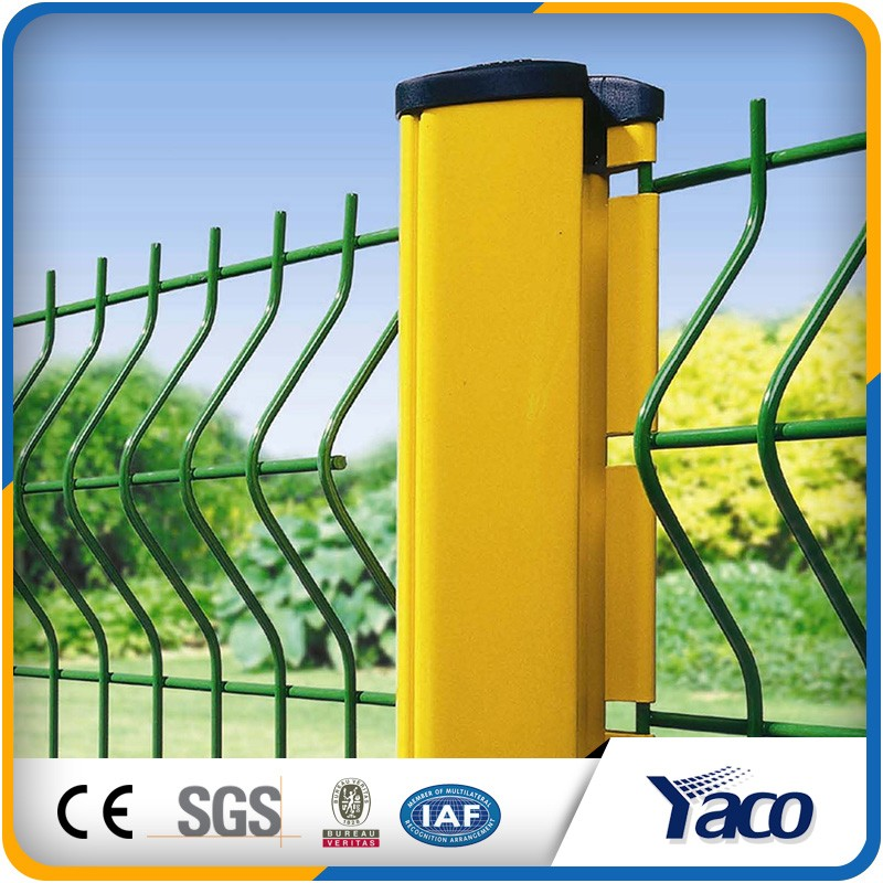 4mm 5mm wire 50*100mm 50*200mm hole galvanized+ pvc steel fence panels in fence, trellis & gates