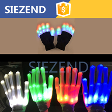 Wholesale LED Outdoor Glove Fingerless Flashlight Glove for Repairing and Working in Darkness Places/ Fishing/ Camping/ Hikining