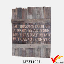 Wholesale Rustic Decor Wooden Wall Plaque Paintings
