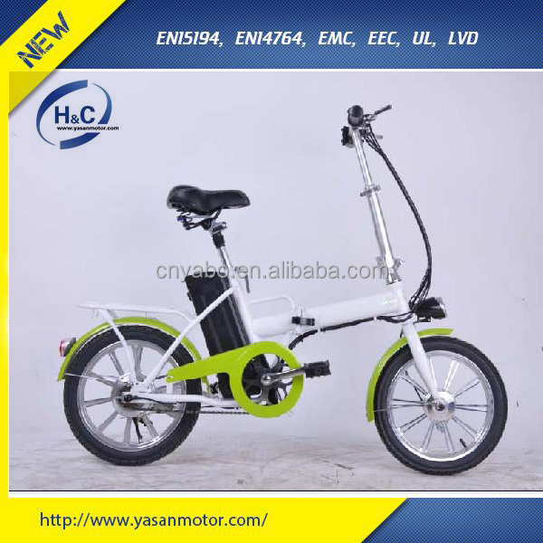 Most popular 36V 8Ah lithium battery 250W motor 16''cheap mini electric folding bike