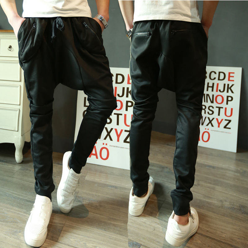 Factory Sale 6 Pocket Design Harem Hippie Cargo Pants For Men