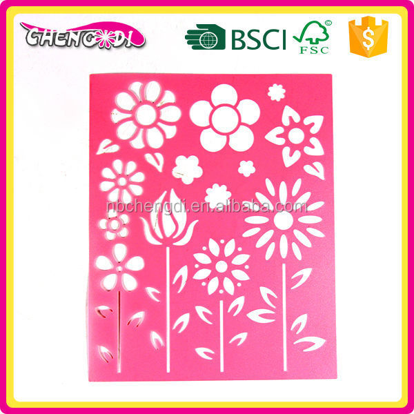 Hot Selling Plastic PP Flowers Stencil