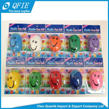 High quality 3cm 4.5cm rubber soft smile flexible face doll toy for coin operated machine
