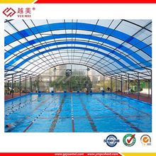 Yuemei swimming pool enclosure polycarbonate roofing sheet green house covering