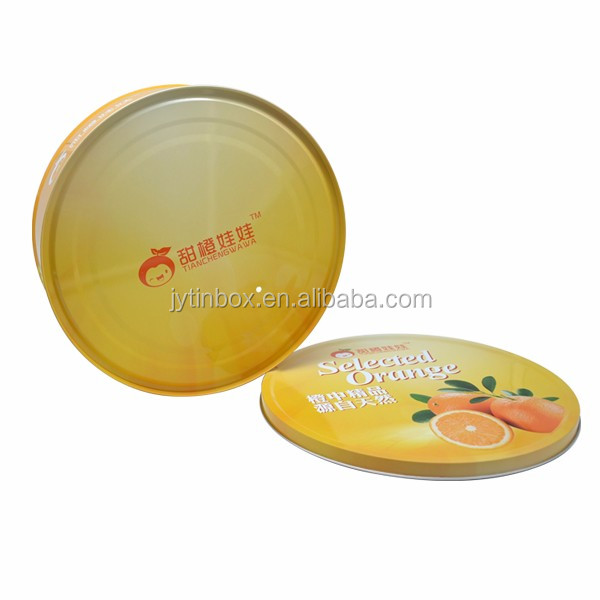 factory price round shape candy/cookie gift box high quality blank tin lunch box