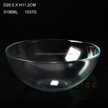 Good quality large clear glass bowls in cheap price