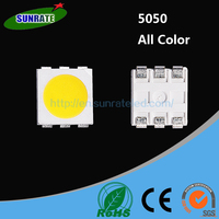 Rohs epistar 0.5w 5050 smd led lumen datasheet specifications 3 chips module plcc-6 diode