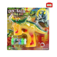 Novelty children plastic flash dinosaur bubble gun with music and light