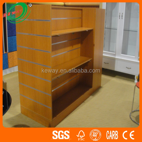 MDF Slatwall Display Shop Fittings System Promotional Table/Boutique Shops Retail Displays