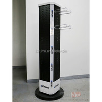 metal mobile phone accessories rotating pegboard display stand