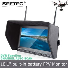 "5.8ghz 32 channels 10.1"" FPV DVR monitor built in battery video transmitter and receiver"