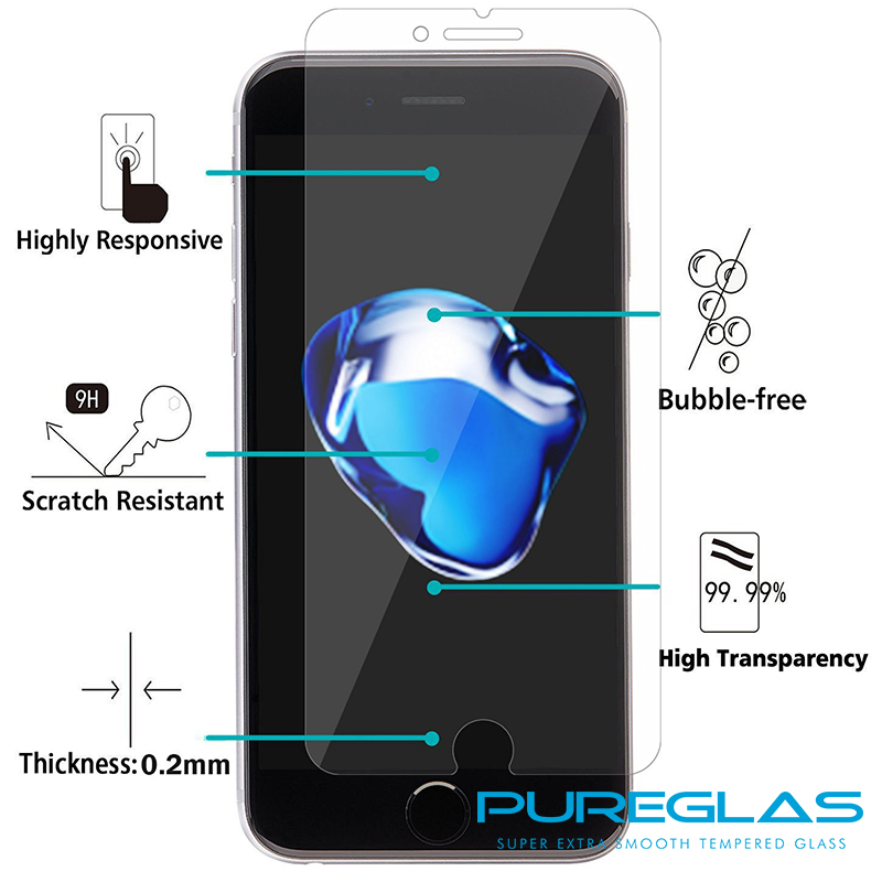 Paypal accepted Low MOQ screen guard , Invisible shield for iPhone 7 , tempered glass protecting shield for iPhone 7