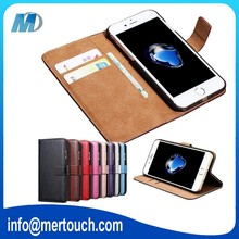 Retro leather mobile phone case for iphone 7 wallet 2 card holder flip cover case mobile phone accessorise wholesale
