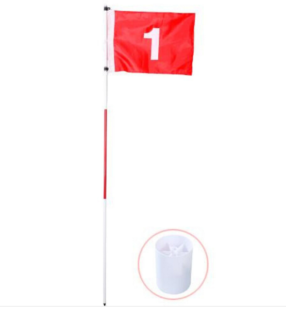 Backyard Practice Golf Flagstick with hole cup 3section and 5 section
