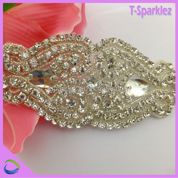 high quality wholesale bridal rhinestone appliques bridal sash for wedding dresses