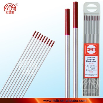 Pure 2% thoriated tungsten electrodes WT20 ,TIG welding rods