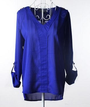 Newest ladies western woman trend chiffon top shirt v neck fashion summer blouse