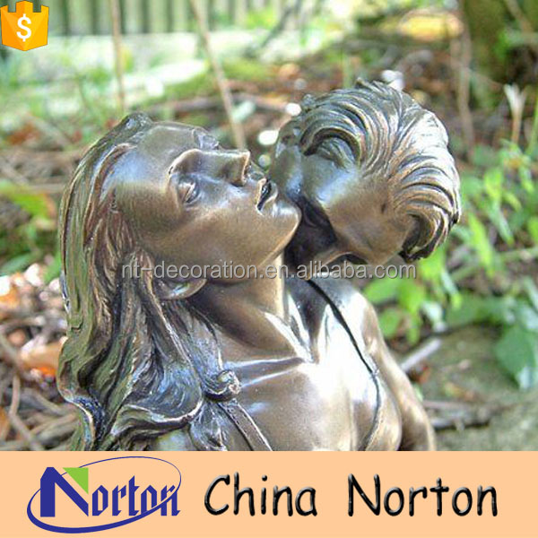 life size nude statues man and woman erotic garden sculpture bronze NTBH-S786X