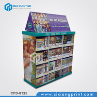 Corrugated Paper Toys Display Rack For Puzzle