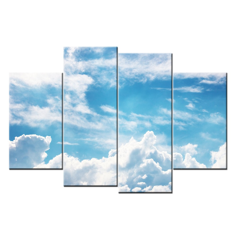Modern Sky Picture Art Wall Decor Canvas Painting Stretched Canvas Art For Living Room