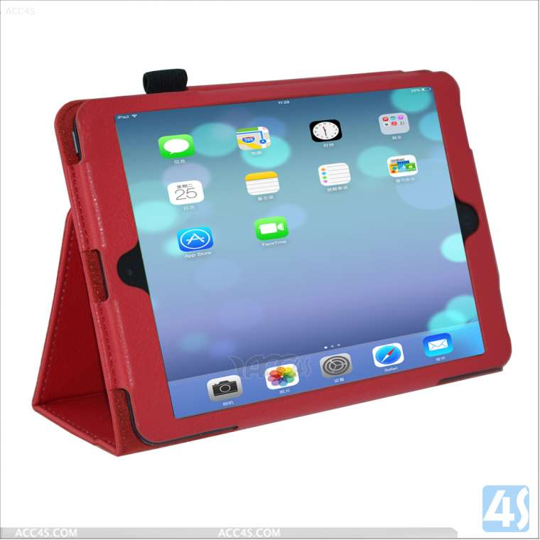 Popular Protector Stand Leather Case for Ipad Mini 2 P-IPDMINIiiCASE001