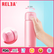 Wholesale double wall vacuum flask thermo mug stainless steel water bottle with press button