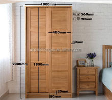 Designer exported 2015 bedroom oak wooden wardrobe
