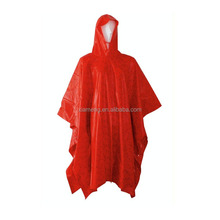 Plastic Material and Raincoats Type PVC rain poncho with custom printed logo
