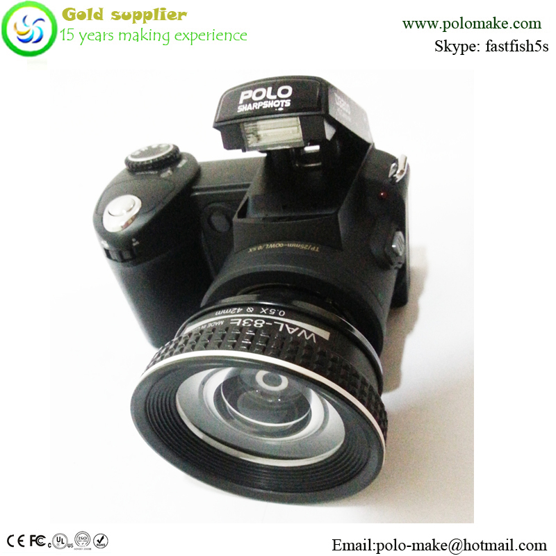 Promotion SLR type 3inch LCD screen digital camera cheap price in china