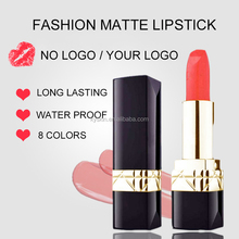 Make Your Own Long Lasting Waterproof Multi-color OEM Top Lady Matte Lipstick Made in USA