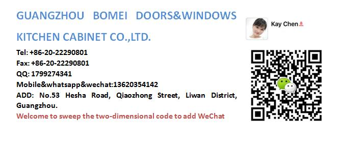Bomei Factory Hot Sale European Design Kitchen Cabinets of PVC membrane made in China