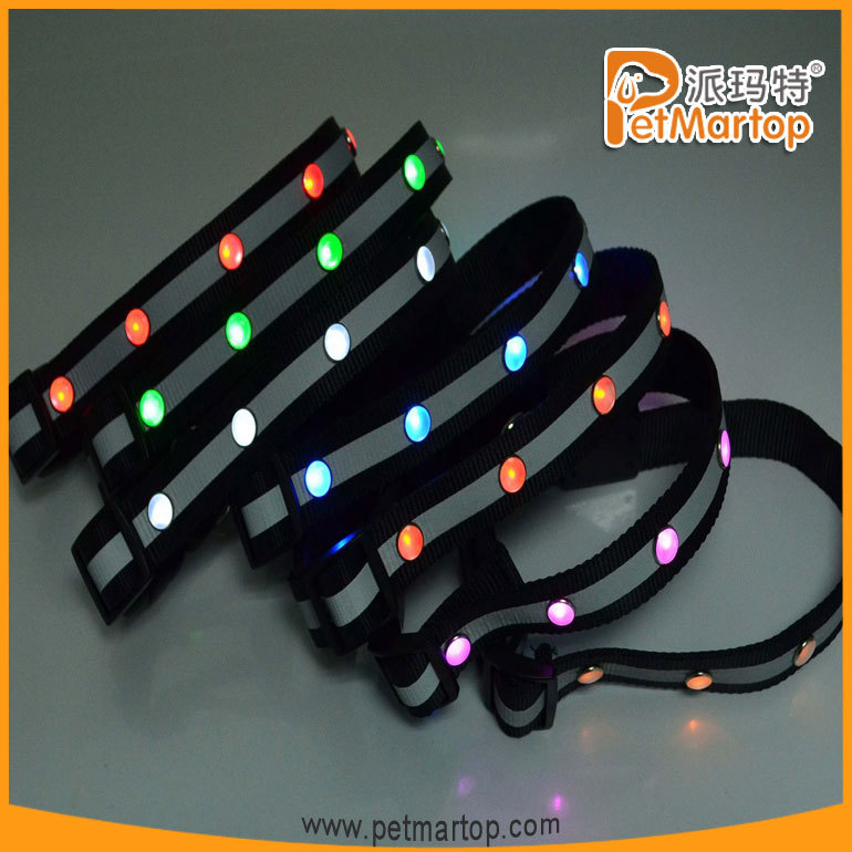 2015 Top Grade Customize Led Pet Collar Light TZ-PET1002 new products on China market