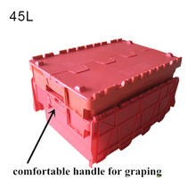 China red plastic turnover crate