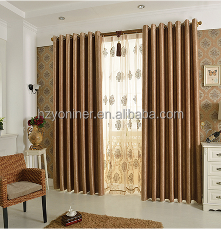 100%polyester blackout luxury european style window curtain